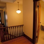 The upstairs hallway and bath.