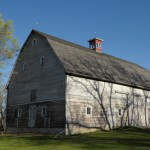 The historic barn includes garage space for tenants.