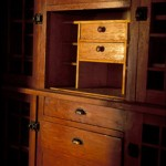 Detail view of built-in cabinets.